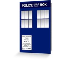 Police Box New Blue Greeting Card