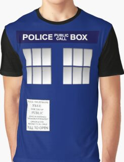 Police Box New Blue Graphic T-Shirt