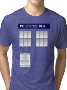 Police Box New Blue Tri-blend T-Shirt