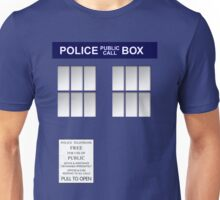 Police Box New Blue Unisex T-Shirt