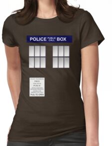 Police Box New Blue Womens Fitted T-Shirt
