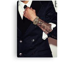 Justin Bieber arm tattoos Canvas Print