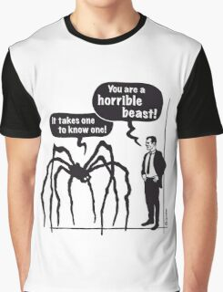 Cartoon: Horrible Beast! / It takes one to know one! Graphic T-Shirt