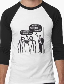 Cartoon: Horrible Beast! / It takes one to know one! Men's Baseball ¾ T-Shirt
