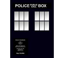 Police Box Classic Blue Photographic Print