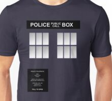 Police Box Classic Blue Unisex T-Shirt