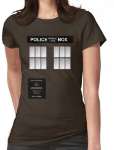 Police Box Classic Blue Womens Fitted T-Shirt