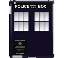 Police Box Classic Blue iPad Case/Skin