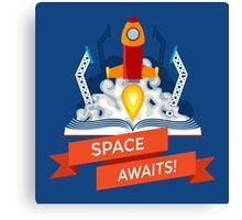 Rocket Launch Illustration Canvas Print