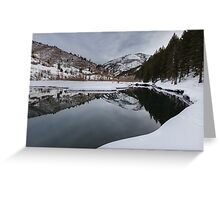 Lake Reflections with mountain Greeting Card