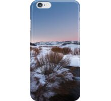 River Flowing in snow field sunset iPhone Case/Skin
