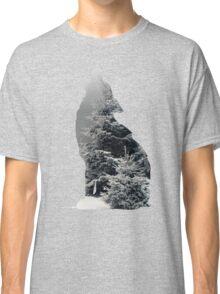 Wolf Silhouette Print Classic T-Shirt