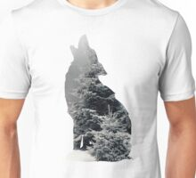 Wolf Silhouette Print Unisex T-Shirt
