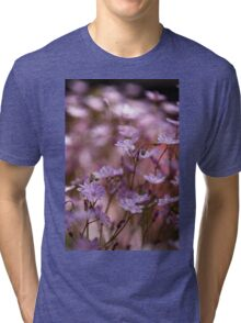 white and purple Tri-blend T-Shirt