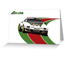 Alitalia Lancia Stratos  Greeting Card