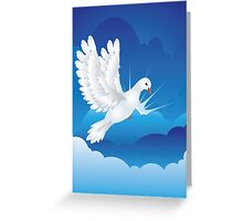 Dove in the Sky 5 Greeting Card