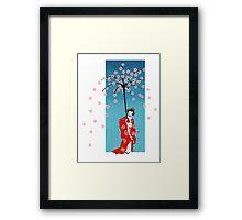 Spring Snow Parasol Framed Print