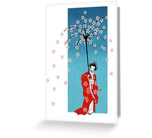 Spring Snow Parasol Greeting Card
