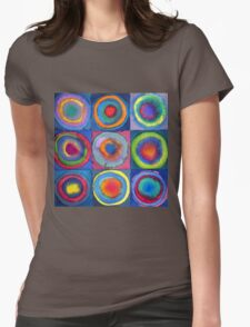 Circles - abstract watercolour Womens Fitted T-Shirt