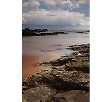 stormy skies, forvie sands (2) Photographic Print