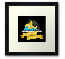 Sci-Fi Book with Submarine Framed Print