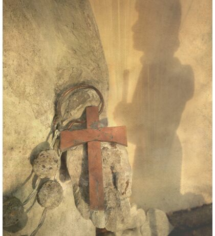 Pilgrim Shadow & Cross Sticker