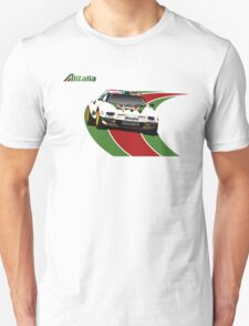 Alitalia Lancia Stratos  Unisex T-Shirt