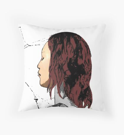 Mary Jane Spidey Kiss Throw Pillow