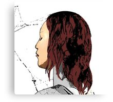 Mary Jane Spidey Kiss Canvas Print