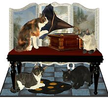 Musical Cats .. April by LoneAngel
