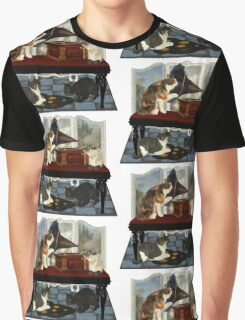 Musical Cats .. April Graphic T-Shirt