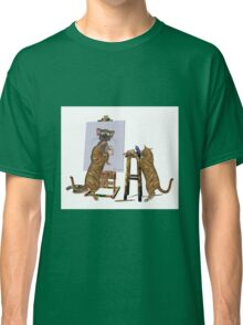 Artists at Work .. March Cats Classic T-Shirt
