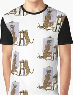 Artists at Work .. March Cats Graphic T-Shirt