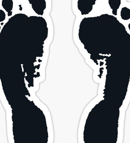 Footprints / Huellas / Empreintes / Fußabdrücke (Black) Sticker