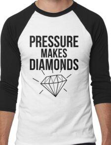 Pressure Makes Diamonds - Script Typography Men's Baseball ¾ T-Shirt