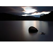 rock in the loch Photographic Print