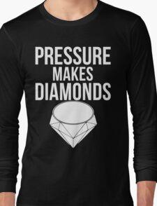 Pressure Makes Diamonds - Script Typography Long Sleeve T-Shirt