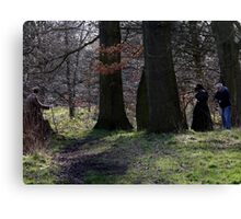 Period drama in the woods  Canvas Print