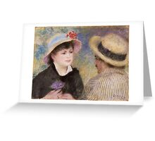 Auguste Renoir - Boating Couple said to be Aline Charigot 1881 Greeting Card