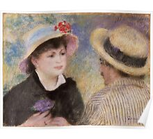 Auguste Renoir - Boating Couple said to be Aline Charigot 1881 Poster