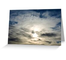 Sunrise Through the Clouds Greeting Card