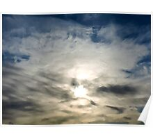 Sunrise Through the Clouds Poster