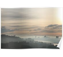 Autumn fog in Bratislava Poster