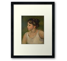 Auguste Renoir - Bust of a Woman  1895 Framed Print