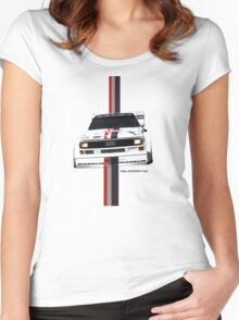 Audi Quattro Rally Women's Fitted Scoop T-Shirt