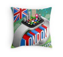 London-UK-Watch-Concept-Isometric Throw Pillow