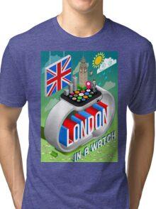 London-UK-Watch-Concept-Isometric Tri-blend T-Shirt