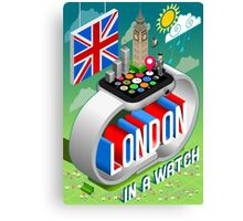 London-UK-Watch-Concept-Isometric Canvas Print