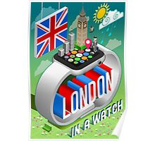 London-UK-Watch-Concept-Isometric Poster