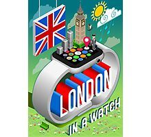 London-UK-Watch-Concept-Isometric Photographic Print